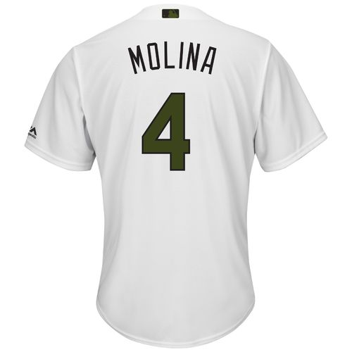 Majestic Men's St. Louis Cardinals Yadier Molina Memorial Day COOL BASE Jersey - view number 1