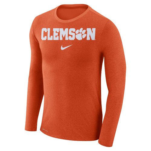 Nike™ Men's Clemson University Dry Marled Long Sleeve T-shirt