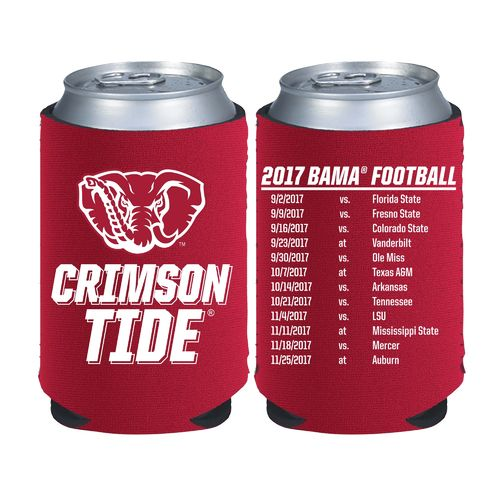 Kolder Kaddy University of Alabama 2017 Football Schedule 12 oz Can Insulator - view number 1