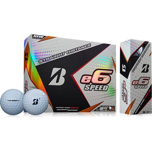 Bridgestone Golf e6 Straight Distance Speed Golf Balls 12-Pack