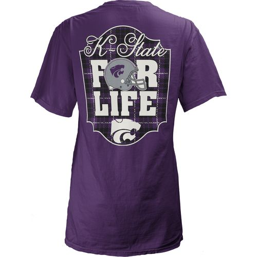 Three Squared Juniors' Kansas State University Team For Life Short Sleeve V-neck T-shirt
