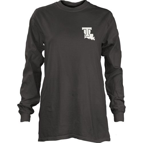 Three Squared Juniors' Louisiana Tech University Tower Long Sleeve T-shirt - view number 2