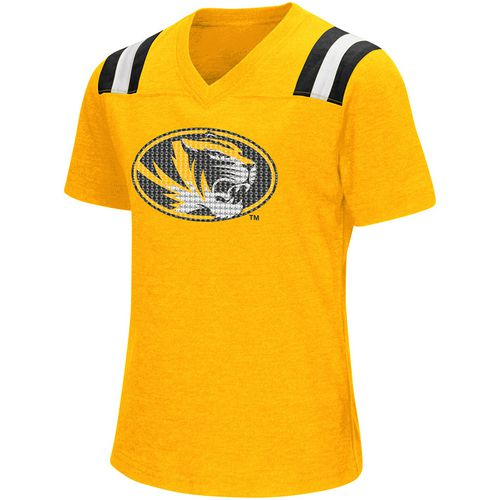 Colosseum Athletics Girls' University of Missouri Rugby Short Sleeve T-shirt