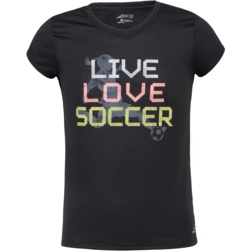 BCG Girls' Live Love Soccer Short Sleeve T-shirt