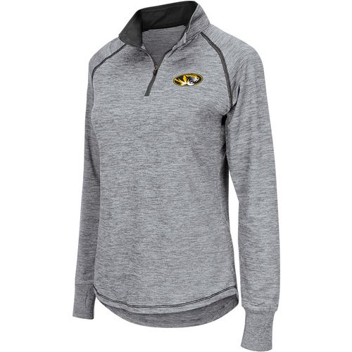 Colosseum Athletics Women's University of Missouri Bikram 1/4 Zip Long Sleeve T-shirt