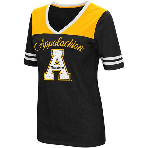Colosseum Athletics Women's Appalachian State University Twist 2.1 V-Neck T-shirt