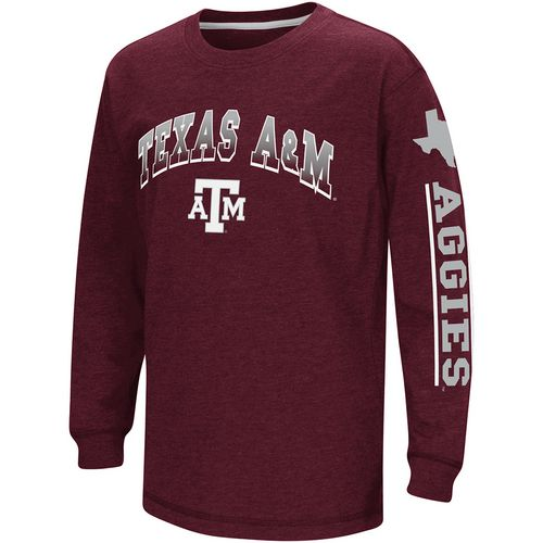 Colosseum Athletics Boys' Texas A&M University Grandstand Long Sleeve T-shirt
