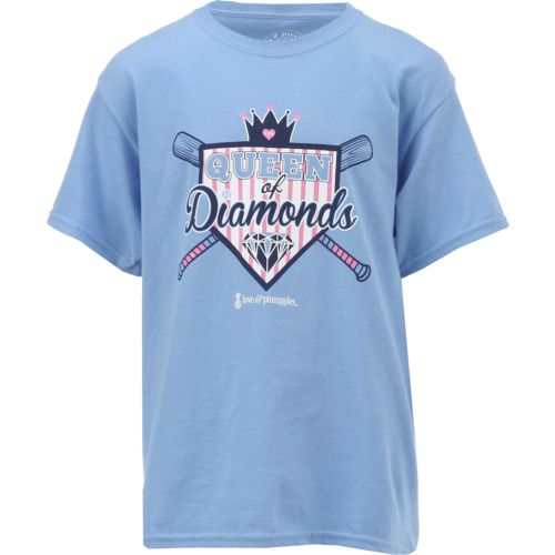 Love & Pineapples Girls' Queen of Diamonds Short Sleeve T-shirt - view number 1