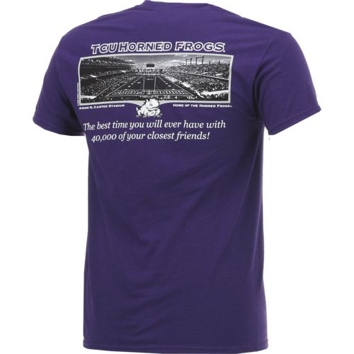 New World Graphics Men's Texas Christian University Friends Stadium T-shirt - view number 2