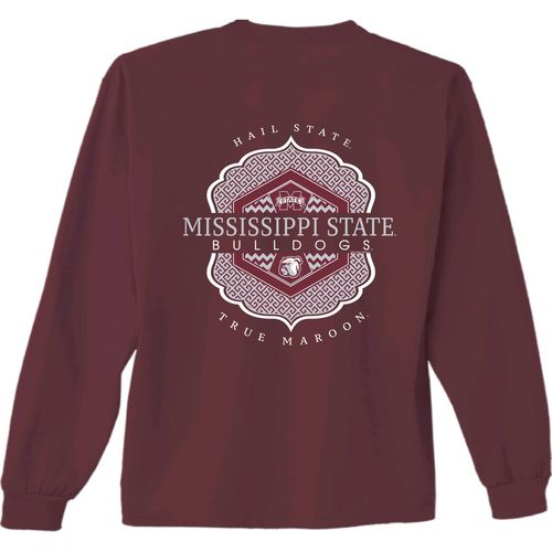 New World Graphics Women's Mississippi State University Faux Pocket Long Sleeve T-shirt