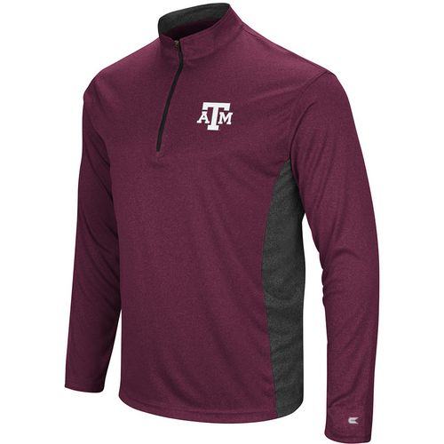 Colosseum Athletics Men's Texas A&M University Audible 1/4 Zip Windshirt