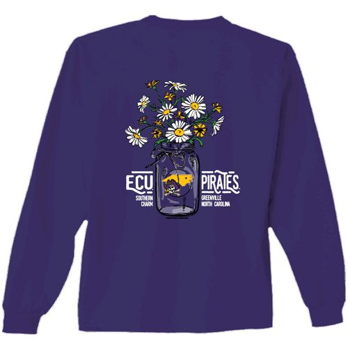 New World Graphics Women's East Carolina University Bouquet Long Sleeve T-shirt