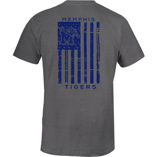 Image One Men's University of Memphis Distressed Flag T-shirt