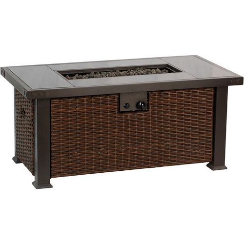 Bali Outdoors 52 in Rectangular Gas Fire Pit Table