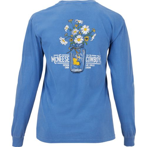 New World Graphics Women's McNeese State University Bouquet Long Sleeve T-shirt