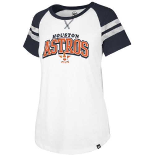 47 Women's Houston Astros Fly Out Raglan 3/4 Sleeve T-Shirt for sale