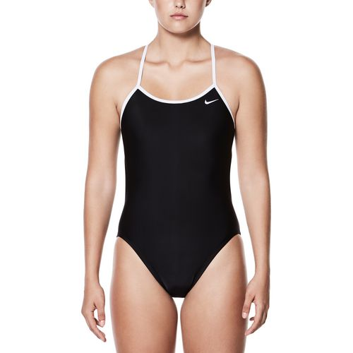 Nike Women's Solid Adjustable Crossback 1-Piece Performance Swimsuit