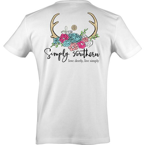 Simply Southern Women's Antlers T-shirt