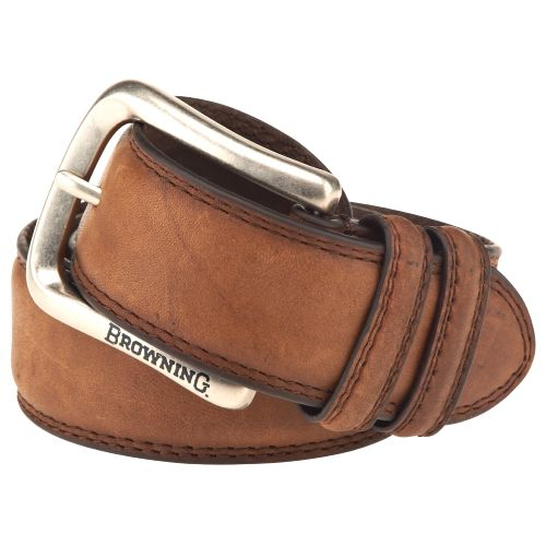 Image for Browning Men's Burnished Stitched Leather Belt from Academy