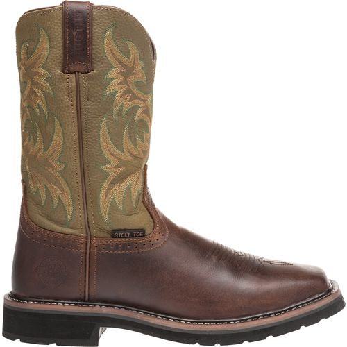 Justin Men s Stampede Steel Toe Western Work Boots