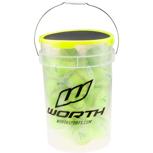 "Worth® FPEX 6-Gallon 12"" Fast-Pitch Softballs Bucket"
