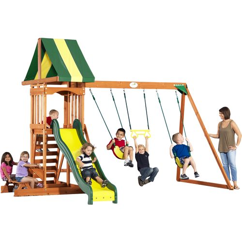 Display product reviews for Backyard Discovery™ Prestige Wooden Swing Set