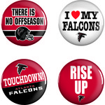 WinCraft Atlanta Falcons Buttons 4-Pack