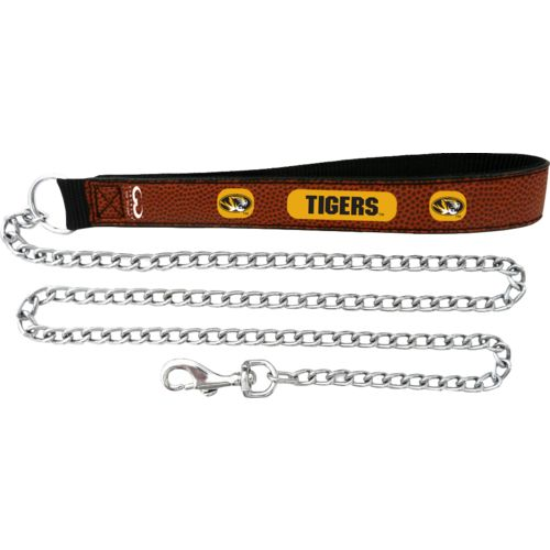 GameWear University of Missouri Football Leather Chain Leash