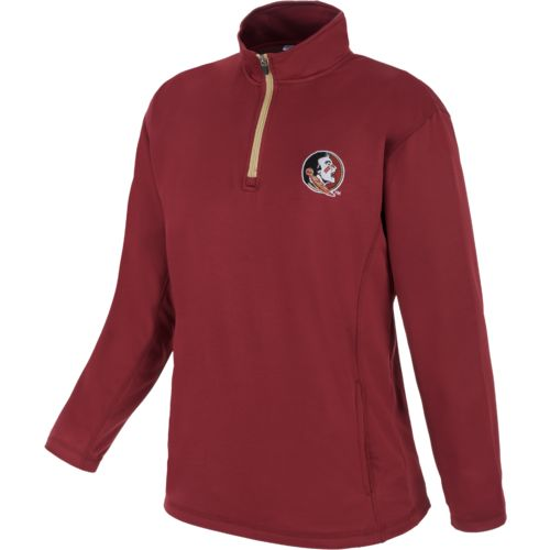 Majestic Men's Florida State University Section 101 Quarter Zip Fleece Pullover