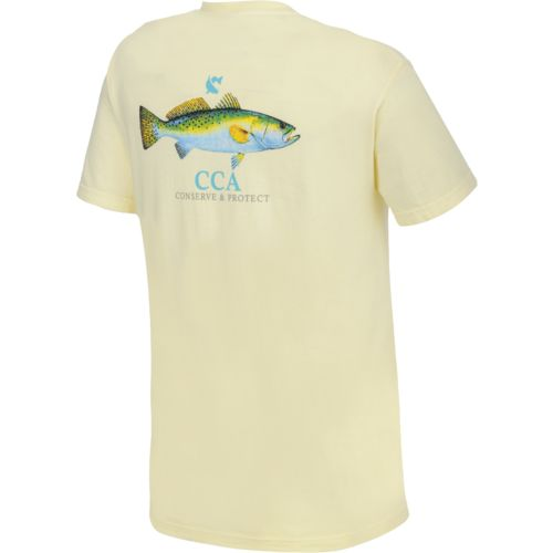 CCA Men's Fish Short Sleeve Pocket T-shirt