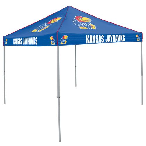 Logo University of Kansas Straight-Leg 9 ft x 9 ft Color Tent
