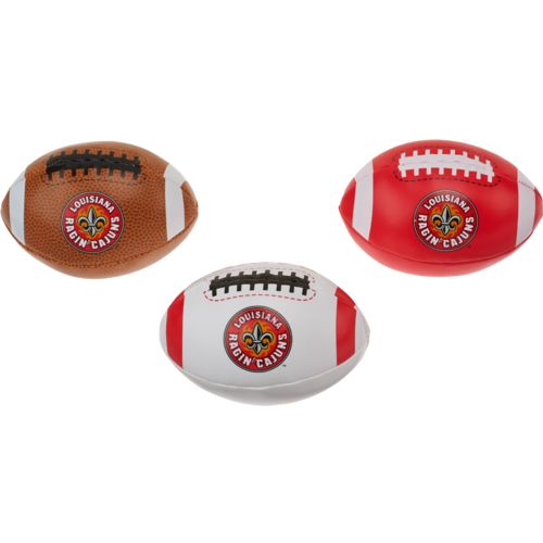 Rawlings Boys' University of Louisiana at Lafayette 3rd Down Softee 3-Ball Football Set