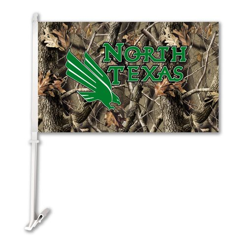 BSI University of North Texas Realtree 2-Sided Car Flag