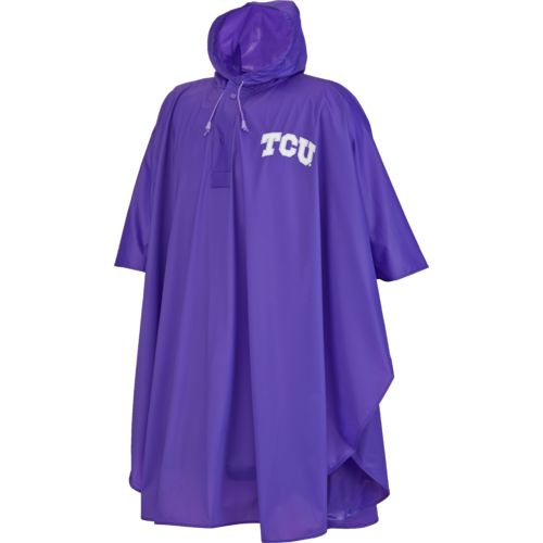 Storm Duds Adults' Texas Christian University Slicker Heavy Duty PVC Poncho