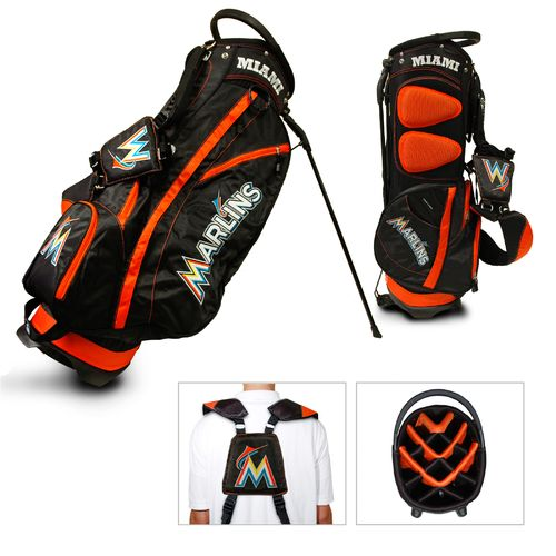 Team Golf Miami Marlins Fairway 14-Way Stand Golf Bag