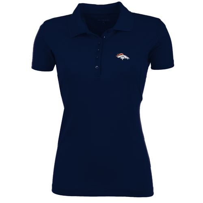 Antigua Women's Denver Broncos Pique Xtra-Lite Polo Shirt