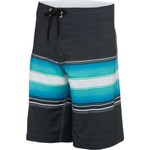 Burnside Men's Thick and Thin Stripe Print Boardshort