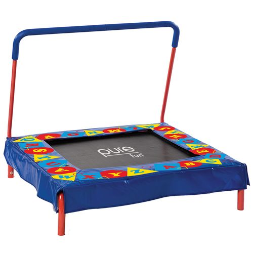 Pure Fun Kids' Preschool Jumper Trampoline with Handrail