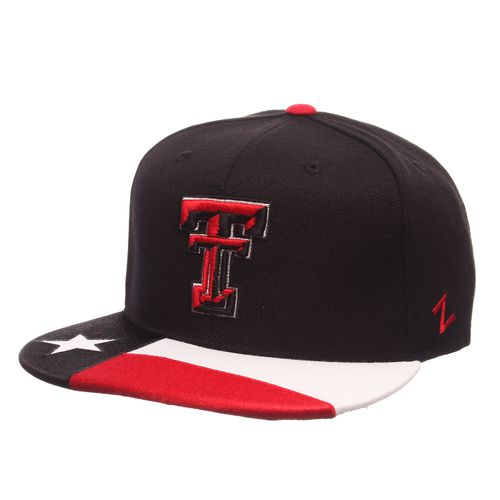 Zephyr Adults' Texas Tech University Flat Bill State