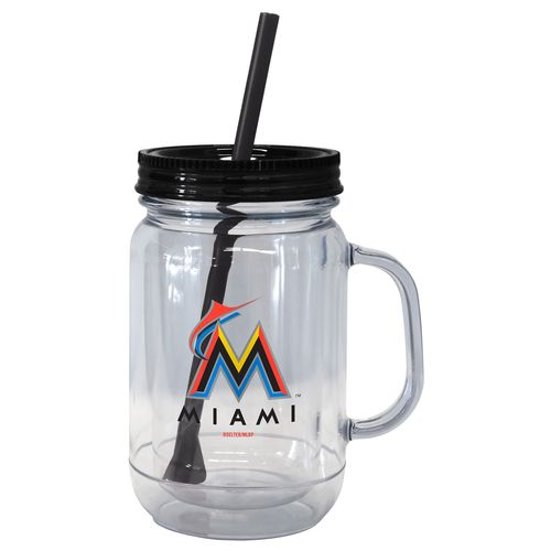 Boelter Brands Miami Marlins 20 oz. Handled Straw Tumblers 2-Pack
