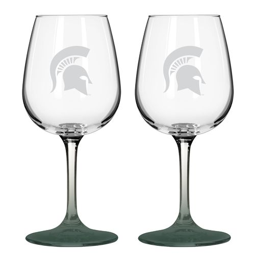 Boelter Brands Michigan State University 12 oz. Wine Glasses 2-Pack
