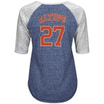 Majestic Women's Houston Astros José Altuve #27 On Field Victory Raglan Top