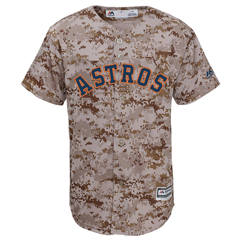 Majestic Boys' Houston Astros Camo Jersey