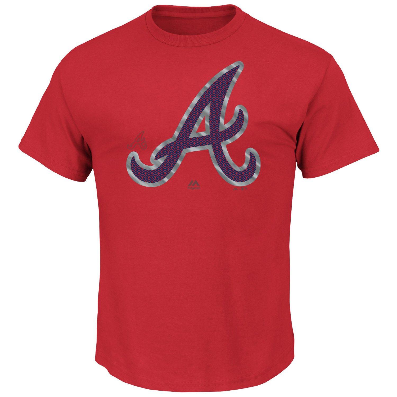 Majestic Men's Atlanta Braves Push Through T-shirt