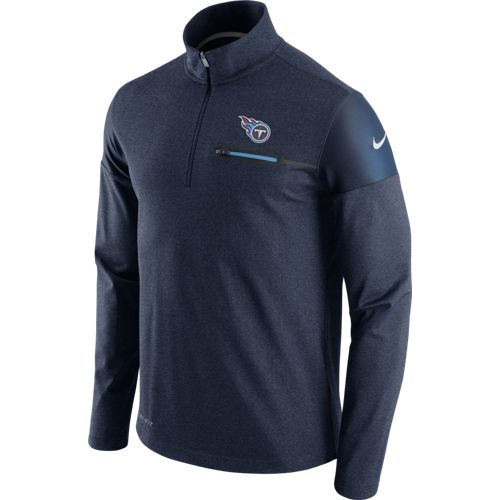Nike Men's Tennessee Titans Elite Coaches 1/2 Zip Top
