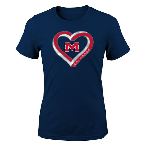 Gen2 Girls' University of Mississippi Infinite Heart Fashion Fit T-shirt