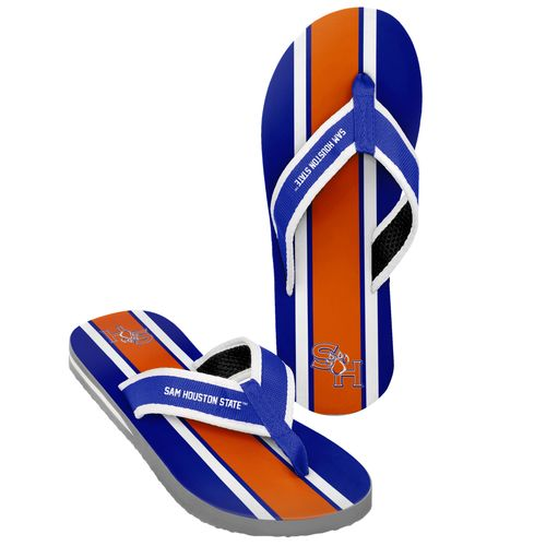 Forever Collectibles™ Men's Sam Houston State University 2016 Contour Stripe Flip-Flops