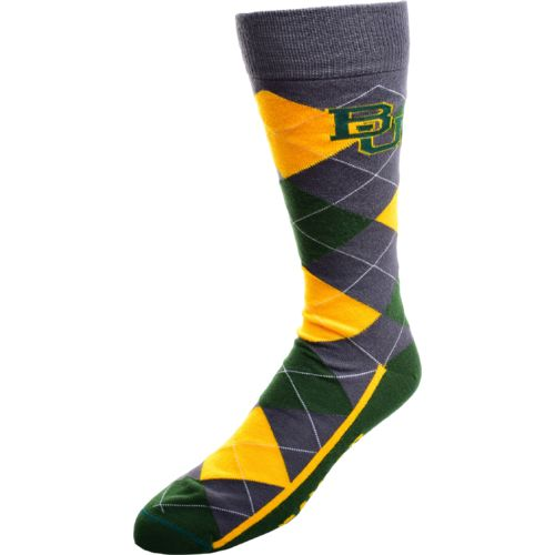 FBF Originals Men's Baylor University Argyle Zoom Dress Socks