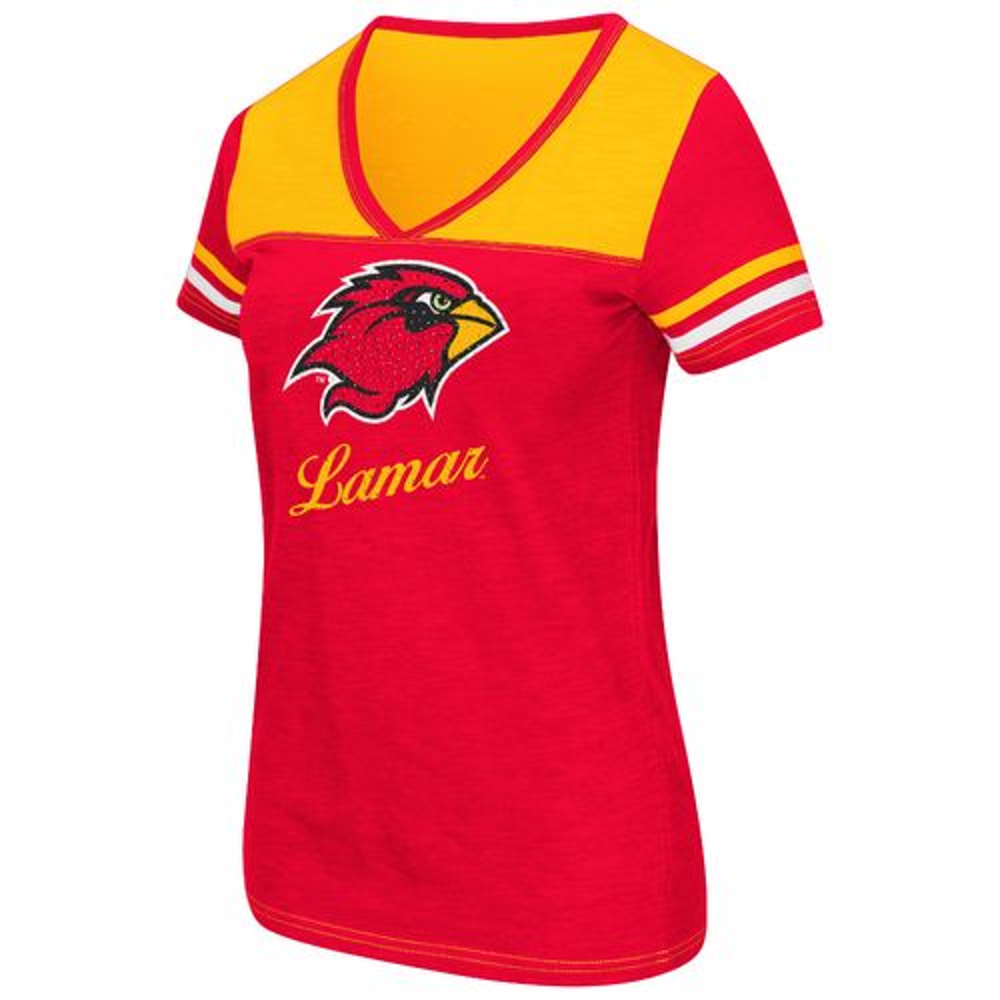 Colosseum Athletics™ Women's Lamar University Rhinestone Short Sleeve T-shirt