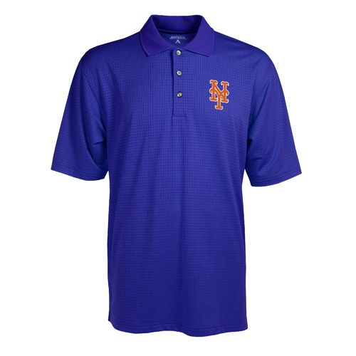 Antigua Men's New York Mets Phoenix Pointelle Polo Shirt